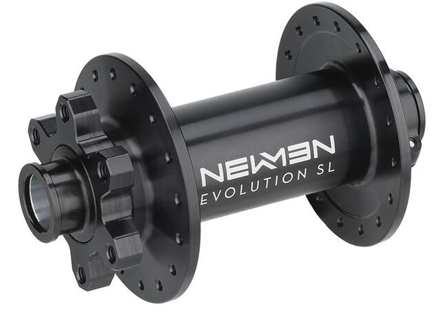 NEWMEN MTB Moyeu avant 15x100 J-Bend 6 boulons boxed, black anodizing - grey